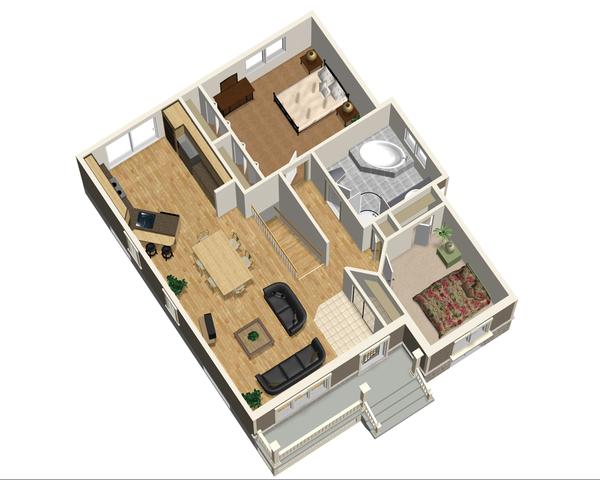Country Floor Plan - Main Floor Plan #25-4533