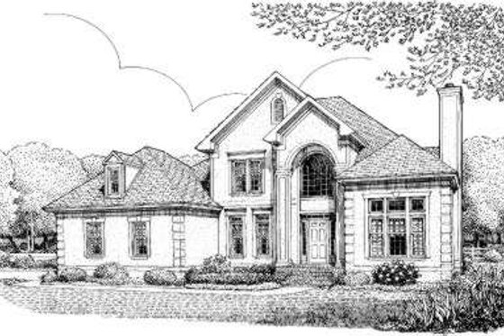 European Exterior - Front Elevation Plan #306-116