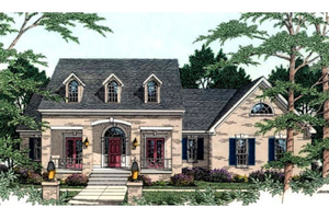 Southern Exterior - Front Elevation Plan #406-117