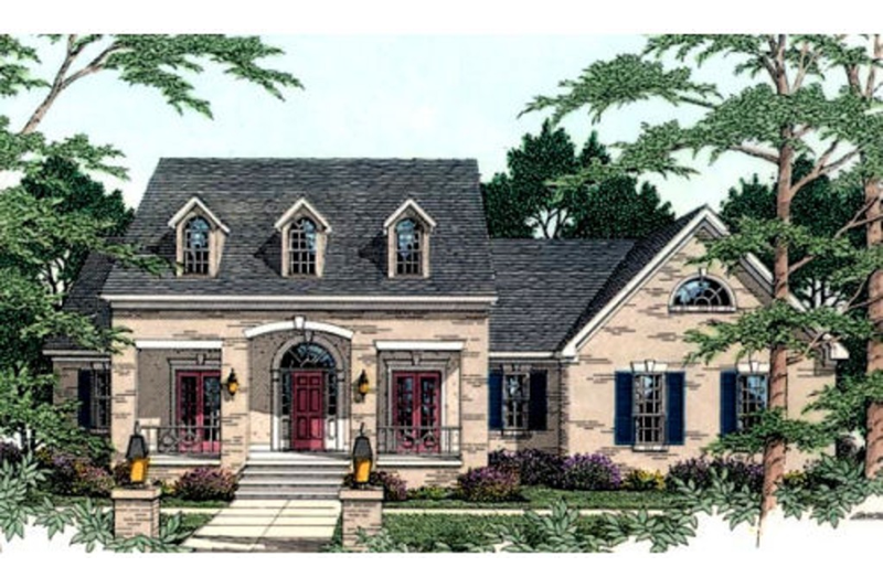 Southern Exterior - Front Elevation Plan #406-117 - Houseplans.com