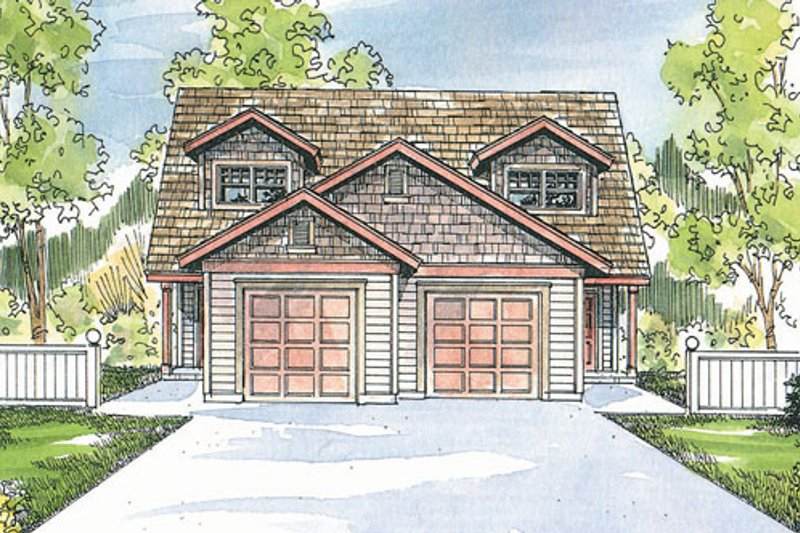 Craftsman Exterior - Front Elevation Plan #124-808