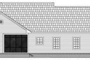Traditional Style House Plan - 3 Beds 3 Baths 1800 Sq/Ft Plan #21-147 Exterior - Rear Elevation