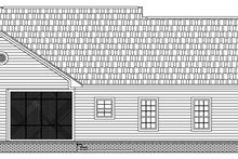 Home Plan - Traditional Exterior - Rear Elevation Plan #21-147