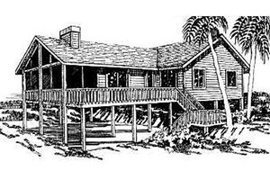 Beach Exterior - Front Elevation Plan #307-102