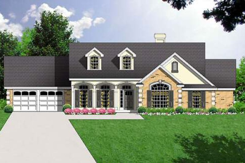 Traditional Exterior - Front Elevation Plan #40-227