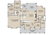 Farmhouse Style House Plan - 3 Beds 2.5 Baths 2787 Sq/Ft Plan #120-257 Floor Plan - Main Floor Plan