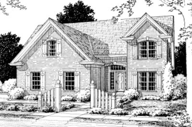 Traditional Exterior - Front Elevation Plan #20-360 - Houseplans.com