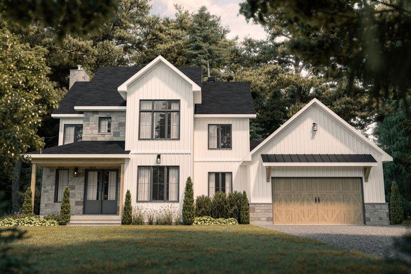 House Design - Farmhouse Exterior - Front Elevation Plan #23-2735