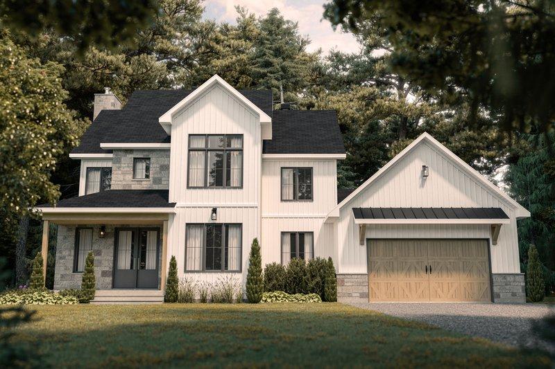 House Plan Design - Farmhouse Exterior - Front Elevation Plan #23-2735