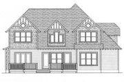 Craftsman Style House Plan - 4 Beds 3 Baths 3126 Sq/Ft Plan #413-101 Exterior - Rear Elevation