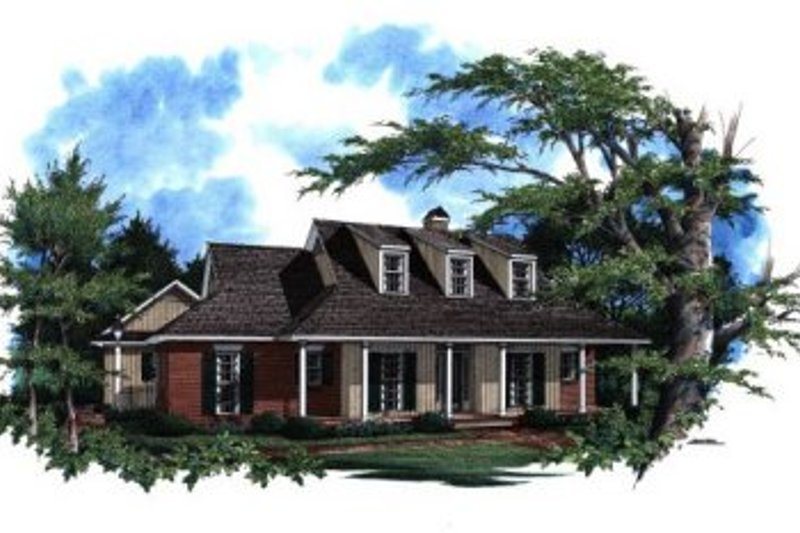 Country Style House Plan - 3 Beds 2 Baths 1714 Sq/Ft Plan #41-126 Exterior - Front Elevation