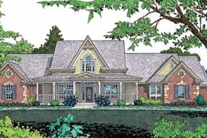 Dream House Plan - Traditional Exterior - Front Elevation Plan #310-620