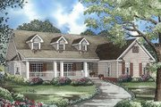 Country Style House Plan - 3 Beds 2.5 Baths 2131 Sq/Ft Plan #17-176 Exterior - Front Elevation