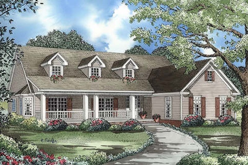 Home Plan - Country farmhouse 2100square feet 3 bedrooms and 2.5 bathrooms.