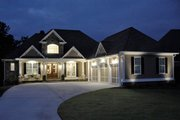 Craftsman Style House Plan - 4 Beds 3.5 Baths 3807 Sq/Ft Plan #437-60 Exterior - Front Elevation