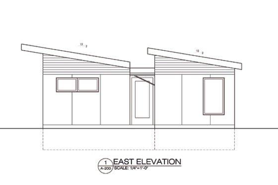 Modern Exterior - Front Elevation Plan #486-4
