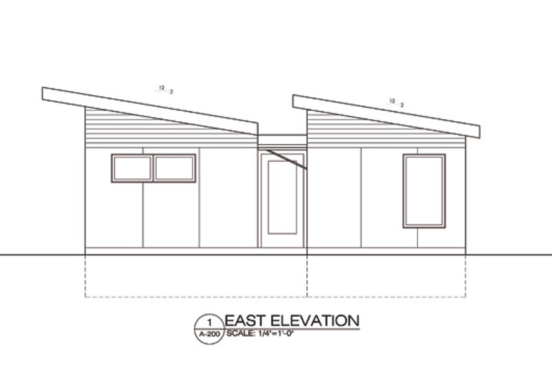 Modern Style House Plan - 2 Beds 1 Baths 730 Sq/Ft Plan #486-4 Exterior - Front Elevation