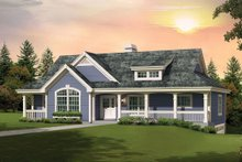 Dream House Plan - Country Exterior - Front Elevation Plan #57-692