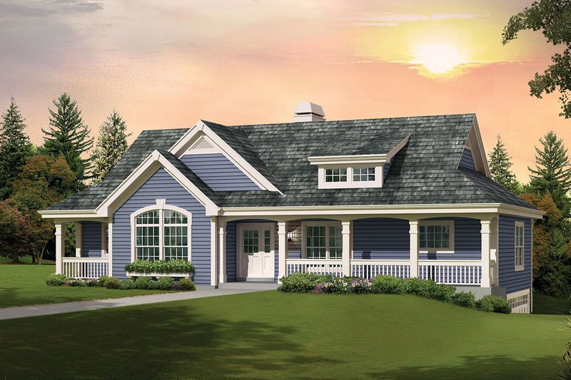 Country Style House Plan - 3 Beds 2 Baths 1676 Sq/Ft Plan #57-692