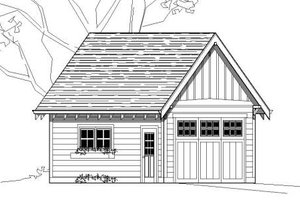Bungalow Exterior - Front Elevation Plan #423-17