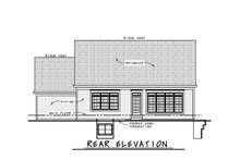 House Plan Design - Craftsman Exterior - Rear Elevation Plan #20-2459