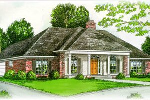 Southern Exterior - Front Elevation Plan #15-128