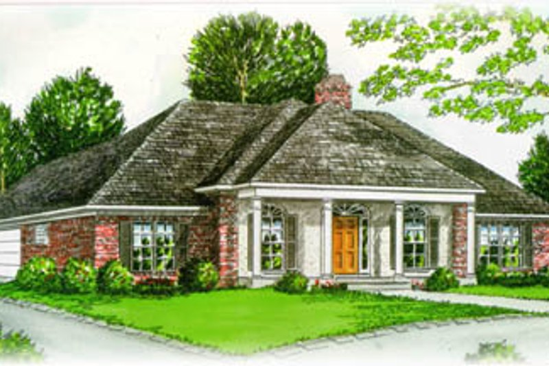 Southern Style House Plan - 4 Beds 2.5 Baths 2258 Sq/Ft Plan #15-128 Exterior - Front Elevation