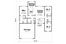 Craftsman Floor Plan - Main Floor Plan Plan #20-2181