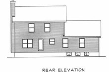 House Plan Design - Traditional Exterior - Rear Elevation Plan #22-205