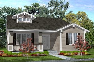Cottage Exterior - Front Elevation Plan #50-125