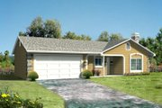 Adobe / Southwestern Style House Plan - 3 Beds 2 Baths 1152 Sq/Ft Plan #1-185 Exterior - Front Elevation