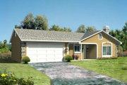 Adobe / Southwestern Style House Plan - 3 Beds 2 Baths 1152 Sq/Ft Plan #1-185