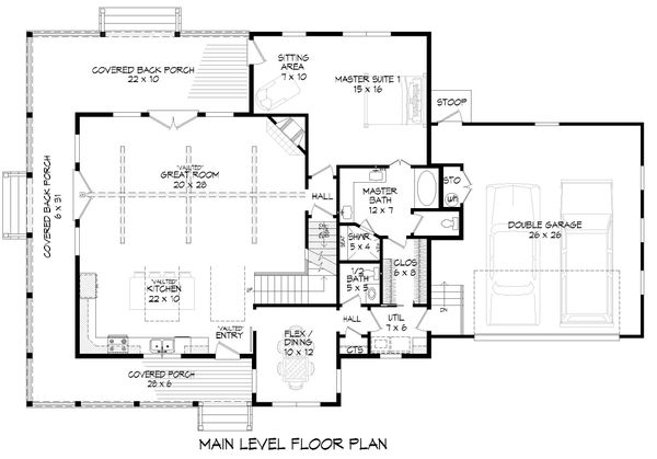 Dream House Plan - Country Floor Plan - Main Floor Plan #932-258