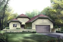House Plan Design - European Exterior - Front Elevation Plan #57-680