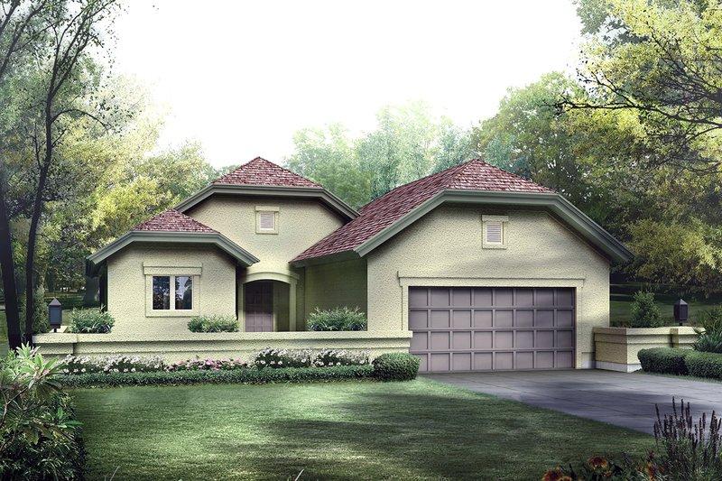 Dream House Plan - European Exterior - Front Elevation Plan #57-680