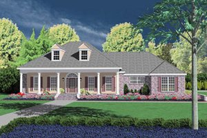 Southern Exterior - Front Elevation Plan #36-221