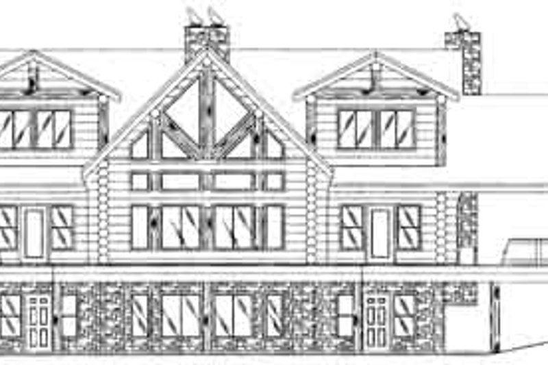 Traditional Exterior - Rear Elevation Plan #117-313 - Houseplans.com
