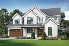 Contemporary Exterior - Front Elevation Plan #48-986