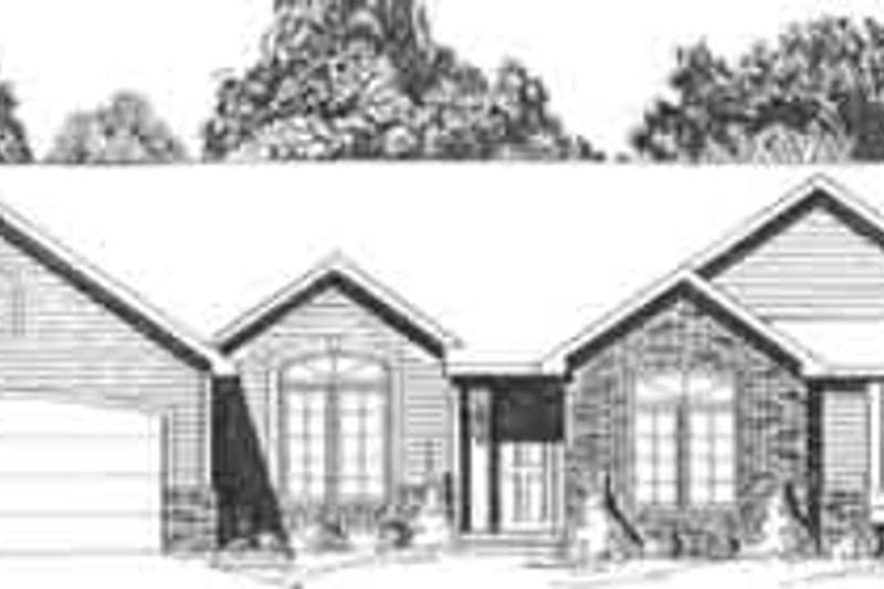 Dream House Plan - Ranch Exterior - Front Elevation Plan #58-188