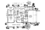 Traditional Style House Plan - 3 Beds 2 Baths 2256 Sq/Ft Plan #310-613 Floor Plan - Main Floor