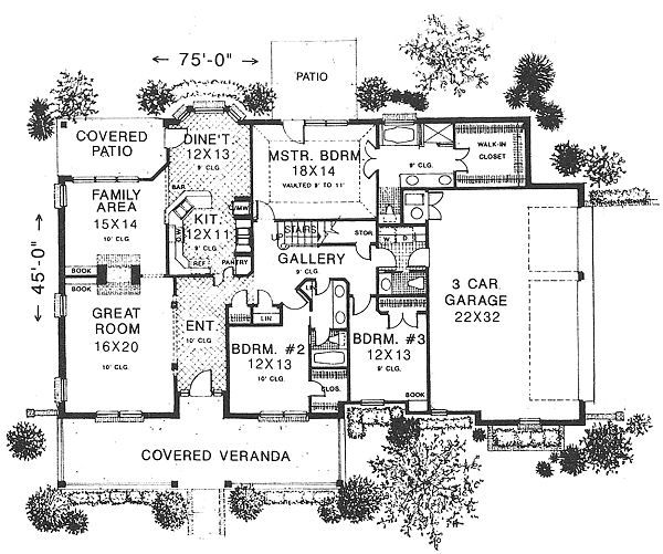 Traditional Floor Plan - Main Floor Plan Plan #310-613