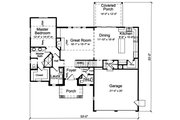 Country Style House Plan - 3 Beds 2.5 Baths 2052 Sq/Ft Plan #46-900 Floor Plan - Main Floor Plan