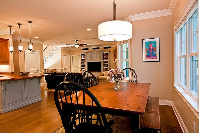 Breakfast nook - 3500 square foot Country Home