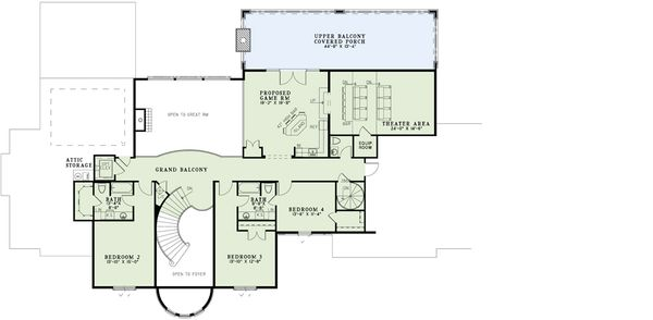European Floor Plan - Upper Floor Plan Plan #17-2530