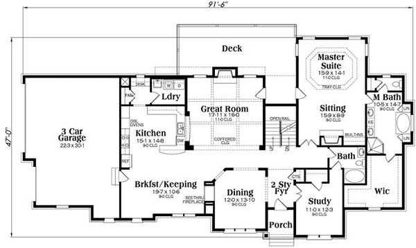 Traditional Floor Plan - Main Floor Plan Plan #419-271