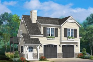 House Design - Country Exterior - Front Elevation Plan #22-605