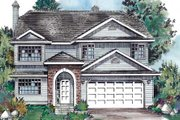 Traditional Style House Plan - 4 Beds 2 Baths 1852 Sq/Ft Plan #18-9242 Exterior - Front Elevation