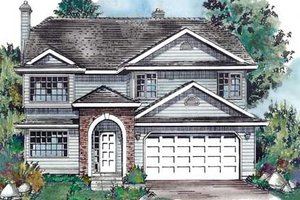 Traditional Exterior - Front Elevation Plan #18-9242