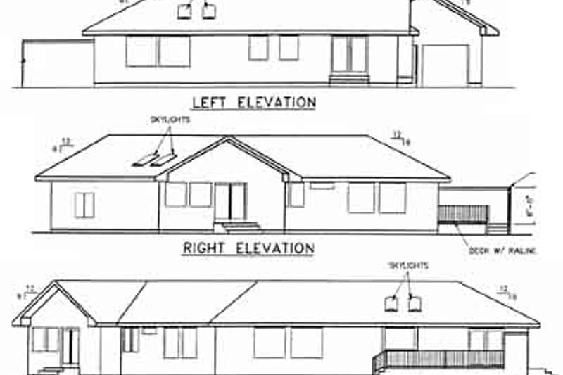 Traditional Exterior - Rear Elevation Plan #60-478 - Houseplans.com
