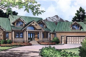 Traditional Exterior - Front Elevation Plan #417-411